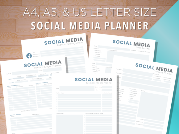 Print on Demand: Social Media Planner Graphic Print Templates By AscendPrints