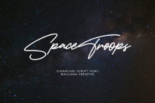 Print on Demand: Space Troops Script & Handwritten Font By Maulana Creative