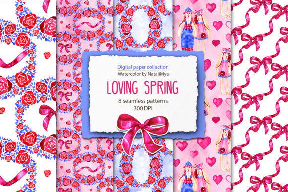 Spring Digital Papers Graphic Backgrounds By NataliMyaStore