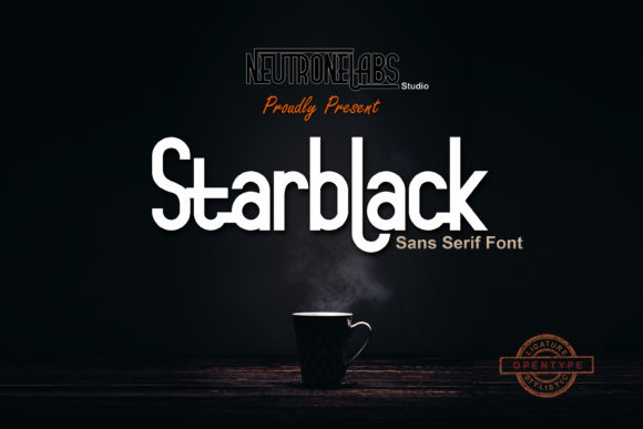 Print on Demand: Starblack Sans Serif Font By NeutroneLabs