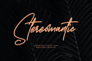 Print on Demand: Stereomantic Script & Handwritten Font By Maulana Creative