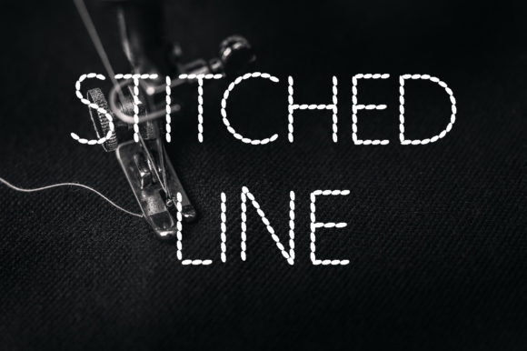 Print on Demand: Stitched Line Display Font By Vladimir Carrer