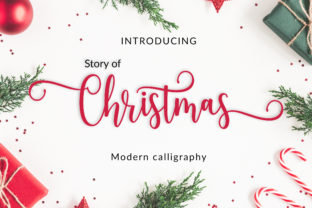 Print on Demand: Story of Christmas Script & Handwritten Font By Amarlettering