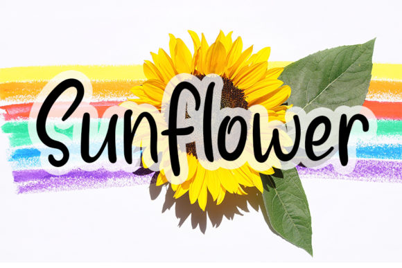 Print on Demand: Sunflower Script & Handwritten Font By Inermedia STUDIO