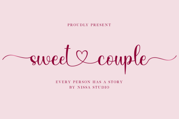 Print on Demand: Sweet Couple Script & Handwritten Font By NissaStudio
