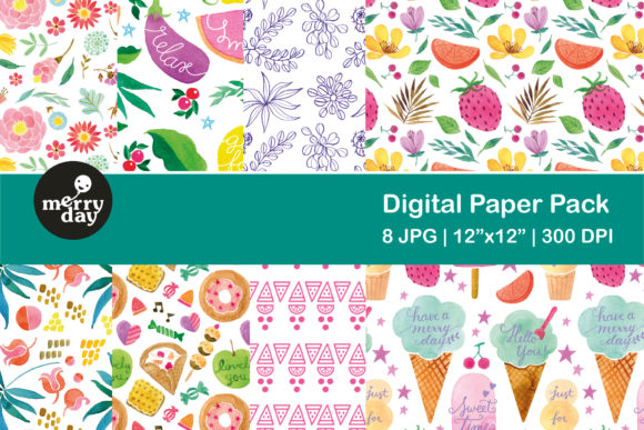 Sweet Summer Pattern Collection Gráfico Moldes Por MerryDay