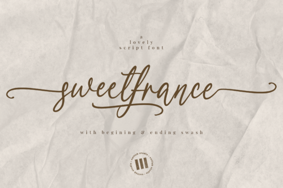 Print on Demand: Sweetfrance Script & Handwritten Font By colllabstudio