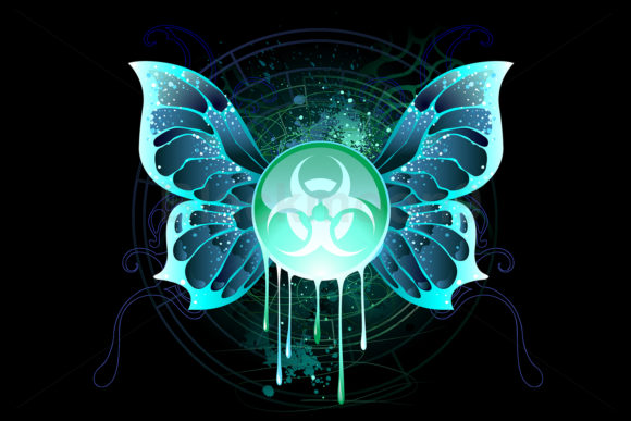 Symbol of Biological Danger with Wings Graphic Illustrations By Blackmoon9