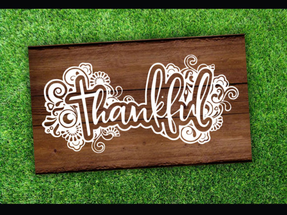 Print on Demand: Thankful SVG & Cut File Graphic Print Templates By johanruartist