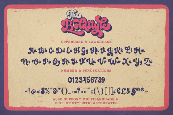 The Boldstyle Font Image