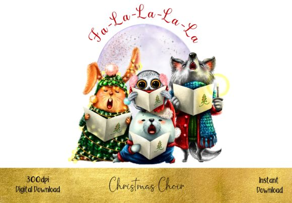 The Christmas Choir Graphic Illustrations By STBB