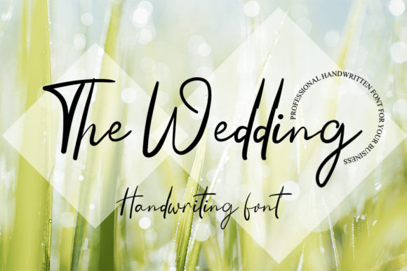 Print on Demand: The Wedding Script & Handwritten Font By Inermedia STUDIO