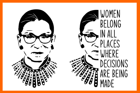 The Notorious RGB! Ruth Bader Ginsburg Graphic Crafts By lormudesigns