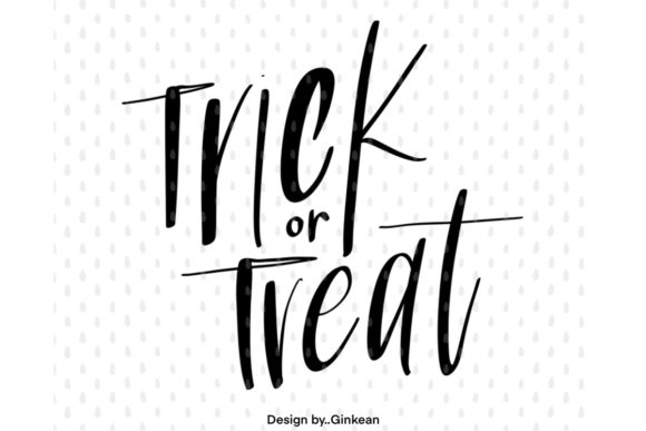 Print on Demand: Trick or Treat, Halloween Graphic Graphic Templates By Ginkean