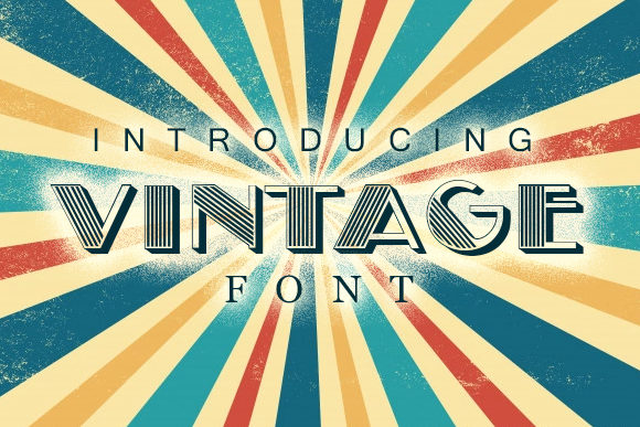 Print on Demand: Vintage Display Font By vladimirnikolic