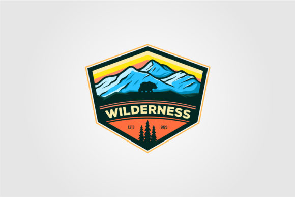 Wilderness Mountain Adventure Logo Graphic Logos By lawoel