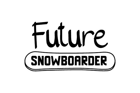 Future Snowboarder Winter Craft Cut File By Creative Fabrica Crafts