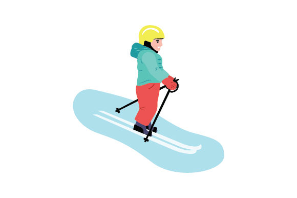 Toddler Skiing Winter Craft Cut File By Creative Fabrica Crafts