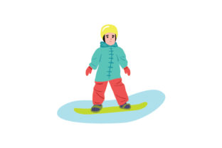 Toddler Snowboarding Winter Craft Cut File By Creative Fabrica Crafts