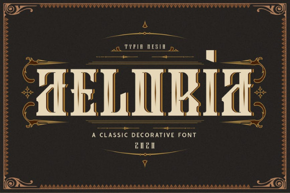 Print on Demand: Aeloria Blackletter Font By ameyamathur