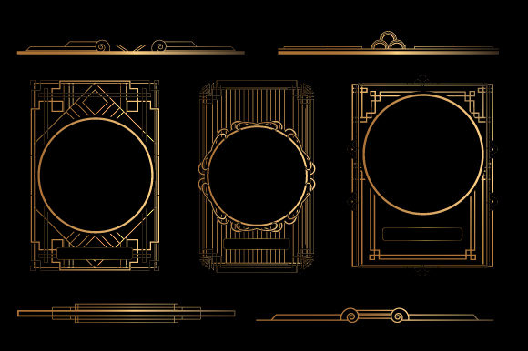 Art Deco Frame and Border Graphic Objects By Bewalrus
