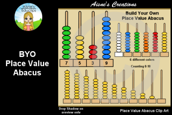 Print on Demand: BYO Place Value Abacus Graphic Teaching Materials By Aisne Educlips