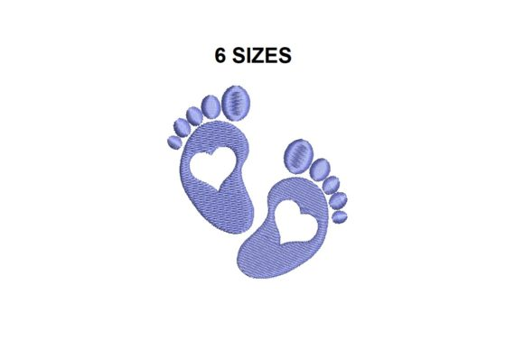 Baby Feet Boys & Girls Embroidery Design By Sweet Embroidery Designs
