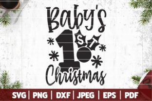 Baby's First Christmas Graphic Plotterdateien By SeventhHeaven Studios