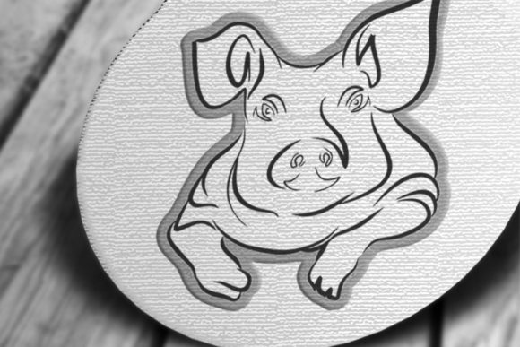 Print on Demand: Beautiful Pig Craft Cutout Graphic Crafts By PatternHousePk