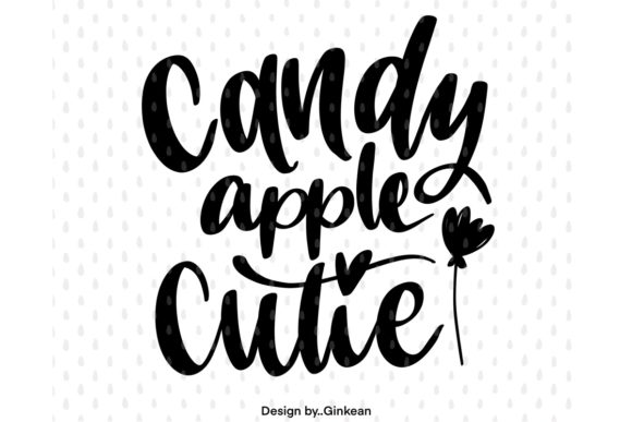 Print on Demand: Candy Apple Cutie Graphic Graphic Templates By Ginkean