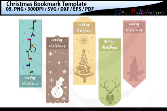 Print on Demand: Christmas Bookmark Template / Porch Sign Graphic Illustrations By Arcs Multidesigns
