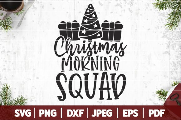 Christmas Morning Squad Graphic Crafts By SeventhHeaven Studios
