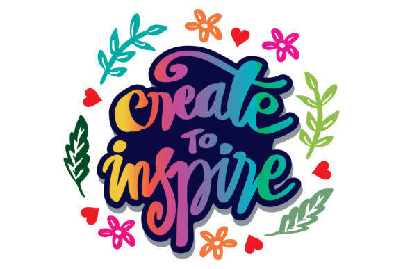 Download Create to Inspire. Hand Lettering SVG Cut Files