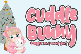 Print on Demand: Cuddle Bunny Display Font By Stefani Letter