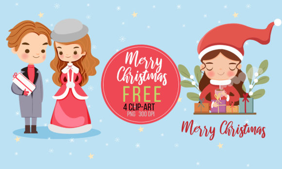 Cute Christmas Clipart Graphic Illustrations By Gingerstudio072