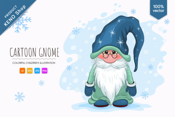 Cute Cartoon Gnome Graphic Illustrations By Keno Shop