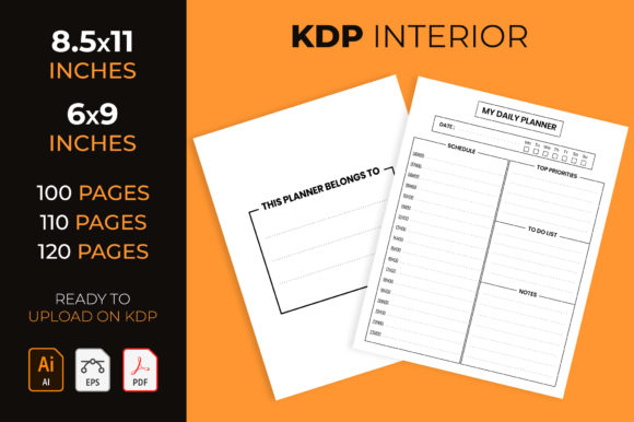 Daily Planner - Kdp Interior Graphic KDP Interiors By medelwardi