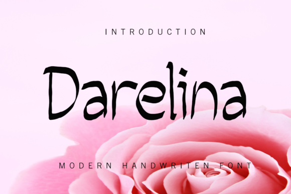 Print on Demand: Darelina Script & Handwritten Font By giatstudios