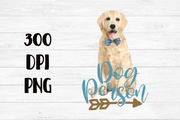 Print on Demand: Dog Person Clipart Watercolor Teal Gold Graphic Crafts By Sublimation Hut