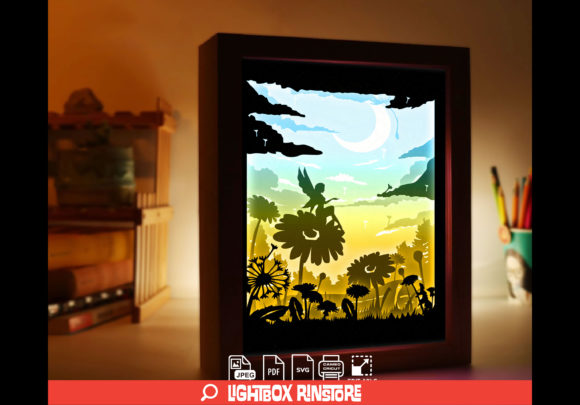Fairy Tale 3D Paper Cut Light Box Graphic 3D Shadow Box By lightbox.rinstore