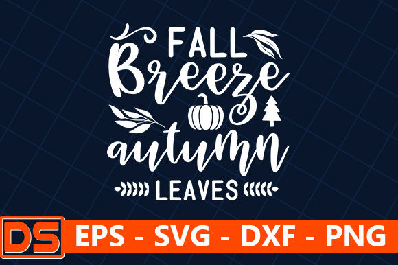 Print on Demand: Fall Breeze Autumn Leaves Graphic Print Templates By Design Store