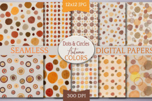 Print on Demand: Fall Dots Seamless Pattern Digital Paper Graphic Backgrounds By Digital Town