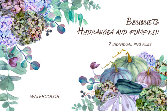 Print on Demand: Fall Floral Arrangement Wedding Bouquets Graphic Illustrations By ElenaZlataArt