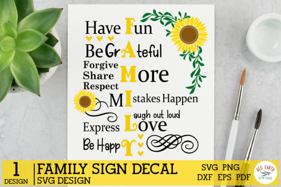 Family Sign Making, Family Rules Graphic Crafts By redearth and gumtrees