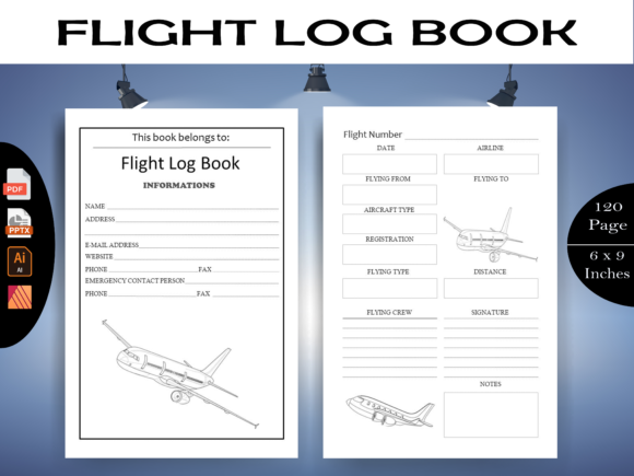 Flight Log Book - KDP Interiors Graphic KDP Interiors By KDP-Megamind