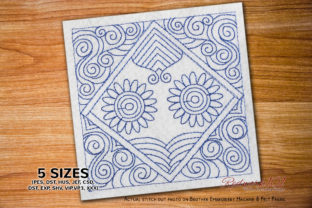 Floral Design Paisley Embroidery Design By Redwork101