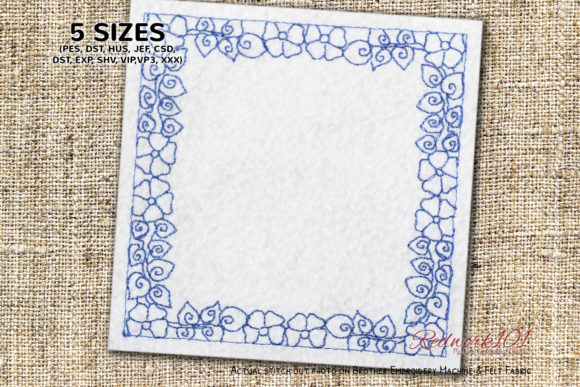 Floral Pattern Border Frame Borders Embroidery Design By Redwork101
