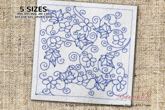 Floral Seamless Pattern Paisley Embroidery Design By Redwork101