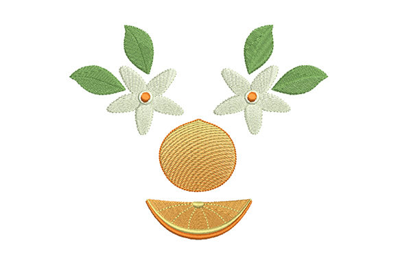 Print on Demand: Flower and Fruit of a Orange Food & Dining Embroidery Design By EmbArt