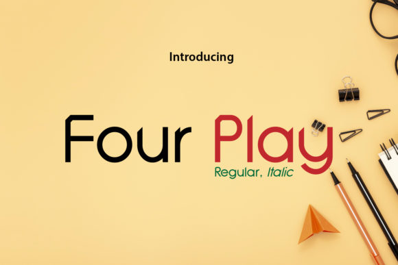 Four Play Font